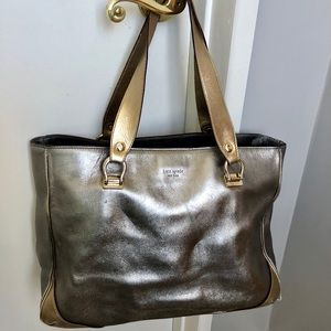 ♠️ Kate Spade ♠️ Metallic two-toned Boutique bag